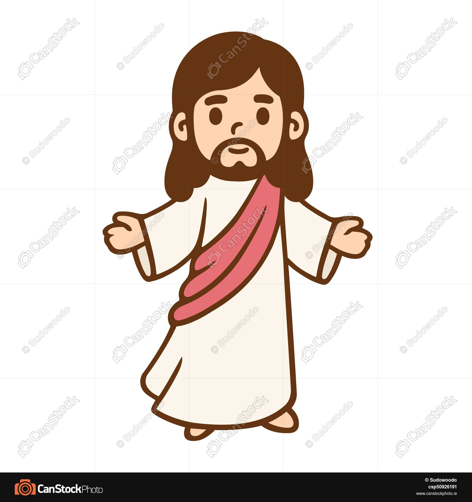 1600x1700 Cartoon Jesus Drawing. Jesus Christ In Cute Cartoon Style . Eps