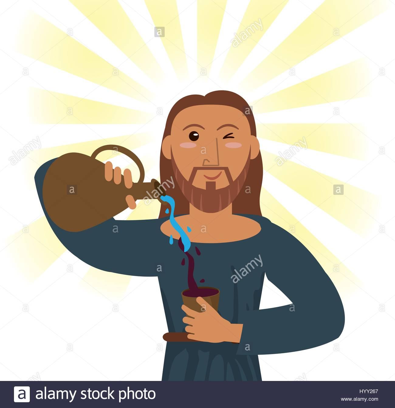 1300x1342 Jesus Water Into Wine Stock Photos Amp Jesus Water Into Wine Stock