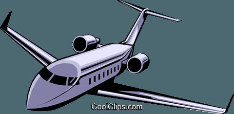 480x234 Executive Jet Royalty Free Vector Clip Art Illustration Tran0108