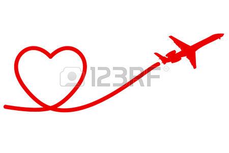 450x300 Love Clipart Plane Clip Art Romantic Heart Wedding Airplane