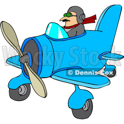 400x400 Royalty Free Vector Cliprt Illustration Of Pilot Flying