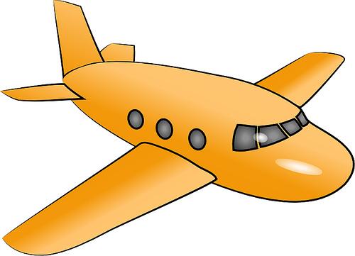 500x361 Yellow Clipart Aeroplane