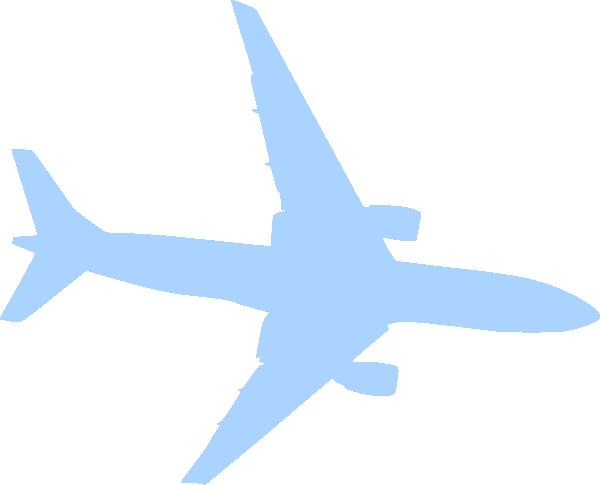 600x485 Airplane Blue Clip Art