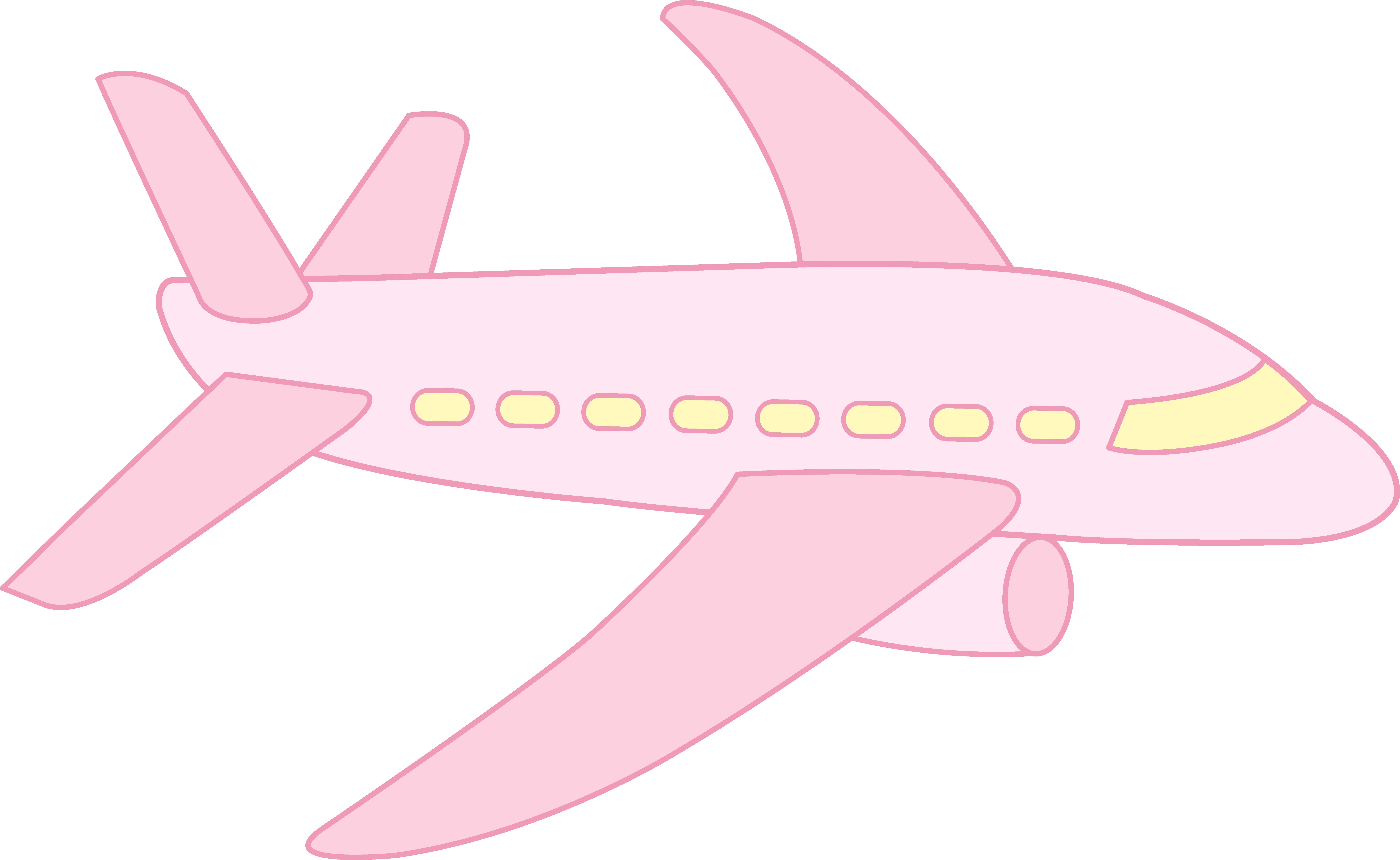 8669x5328 Jet Clipart Pink
