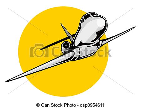 450x345 Jet Clipart Yellow