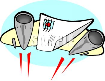 350x273 Royalty Free Clip Art Image Concept For Airmail Letter On A Jet