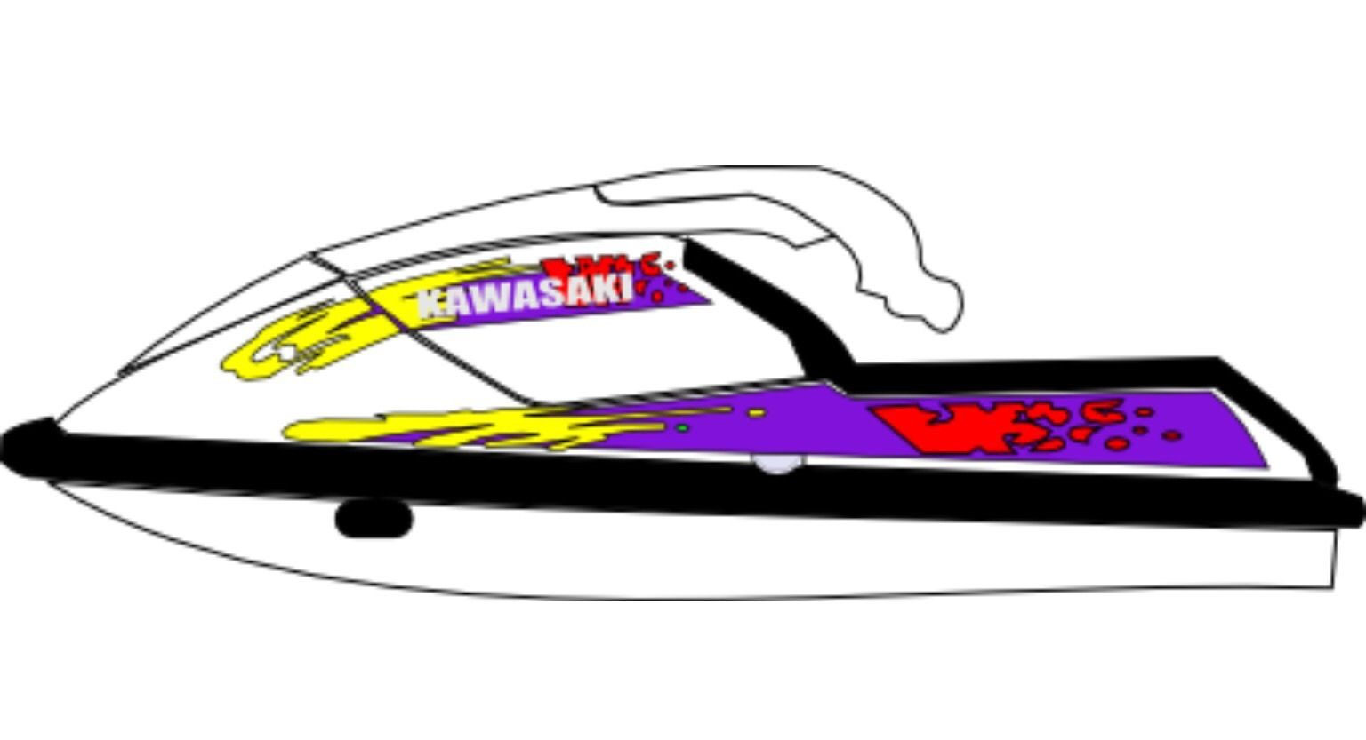 1536x833 Kawasaki 650sx Jet Ski Decals Graphics Sticker Vinyl Kit
