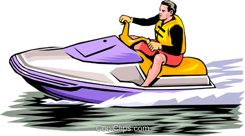 480x266 Person On Personal Watercraft Royalty Free Vector Clip Art