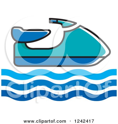 450x470 Clipart Of A Pretty Blond White Woman Sitting On A Jet Ski