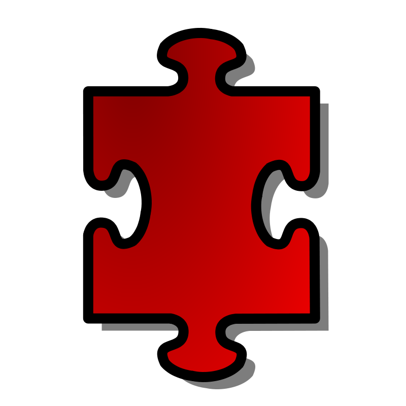 800x800 Free Clipart Red Jigsaw Piece 01 Nicubunu