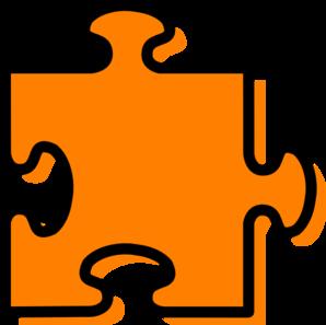 298x297 Orange Jigsaw Piece Clip Art