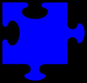 298x285 Blue Jigsaw Clip Art