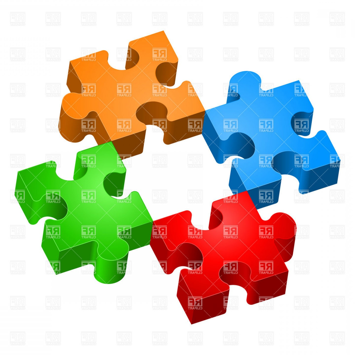1440x1440 Missing Piece Colorful Jigsaw Puzzles Vector Clipart LaztTweet