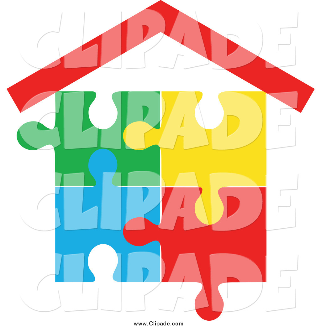 1024x1044 Clip Art Of A Colorful Jigsaw Puzzle House By Vector Tradition Sm