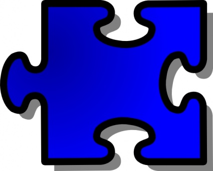 425x342 Free Download Of Blue Jigsaw Puzzle Piece Clip Art Vector Graphic
