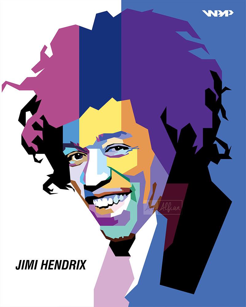 Jimi Hendrix Clipart