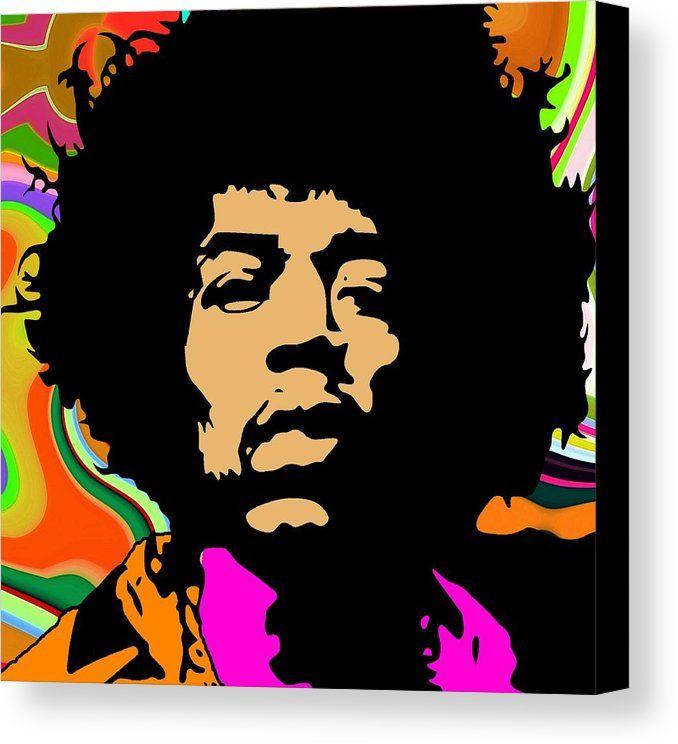 678x744 Psychedelic Jimi 2 Canvas Print Canvas Art By Otis Porritt