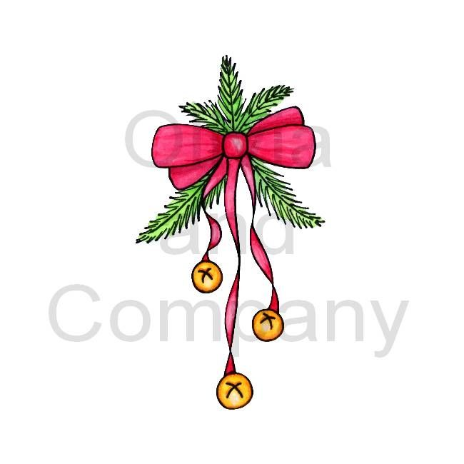 650x650 Jingle Bells Clip Art Jingle Bells With Red Bow Sleigh Painted
