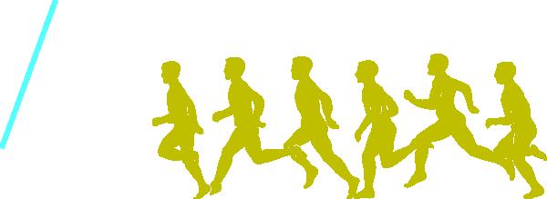 600x219 Jogging Clip Art