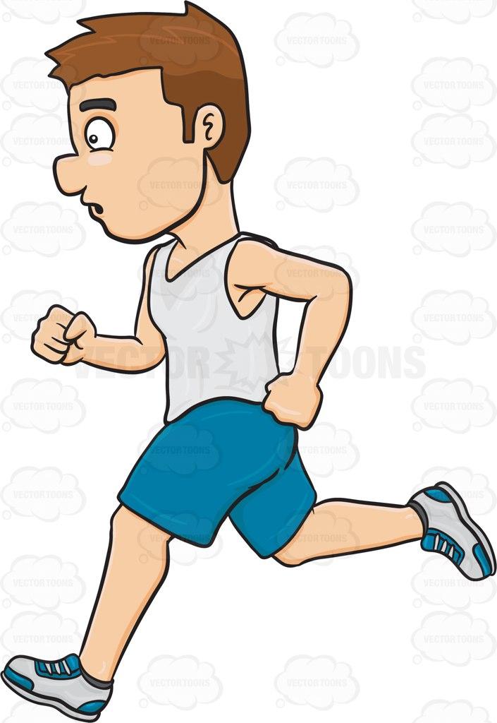 705x1024 A Man Enjoying A Quick Jog Cartoon Clipart Vector Toons