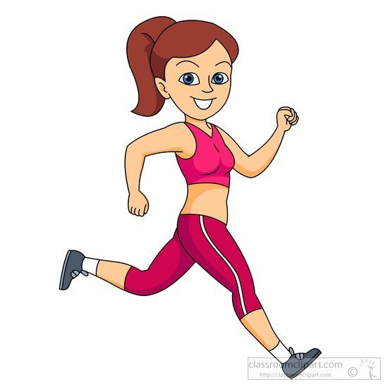 550x549 Girl Wearing Jogging Clothes Running Fast Clipart 595.jpg