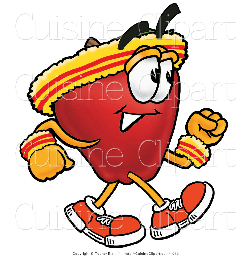 1024x1044 Cuisine Clipart Of An Athletic Nutritious Red Apple Character