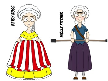 350x263 American Revolution Characters Clip Art Set By Monster Wrangler Mike