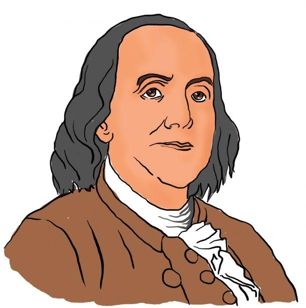 611x615 Ben Franklin Clip Art For Classroom History Booklet