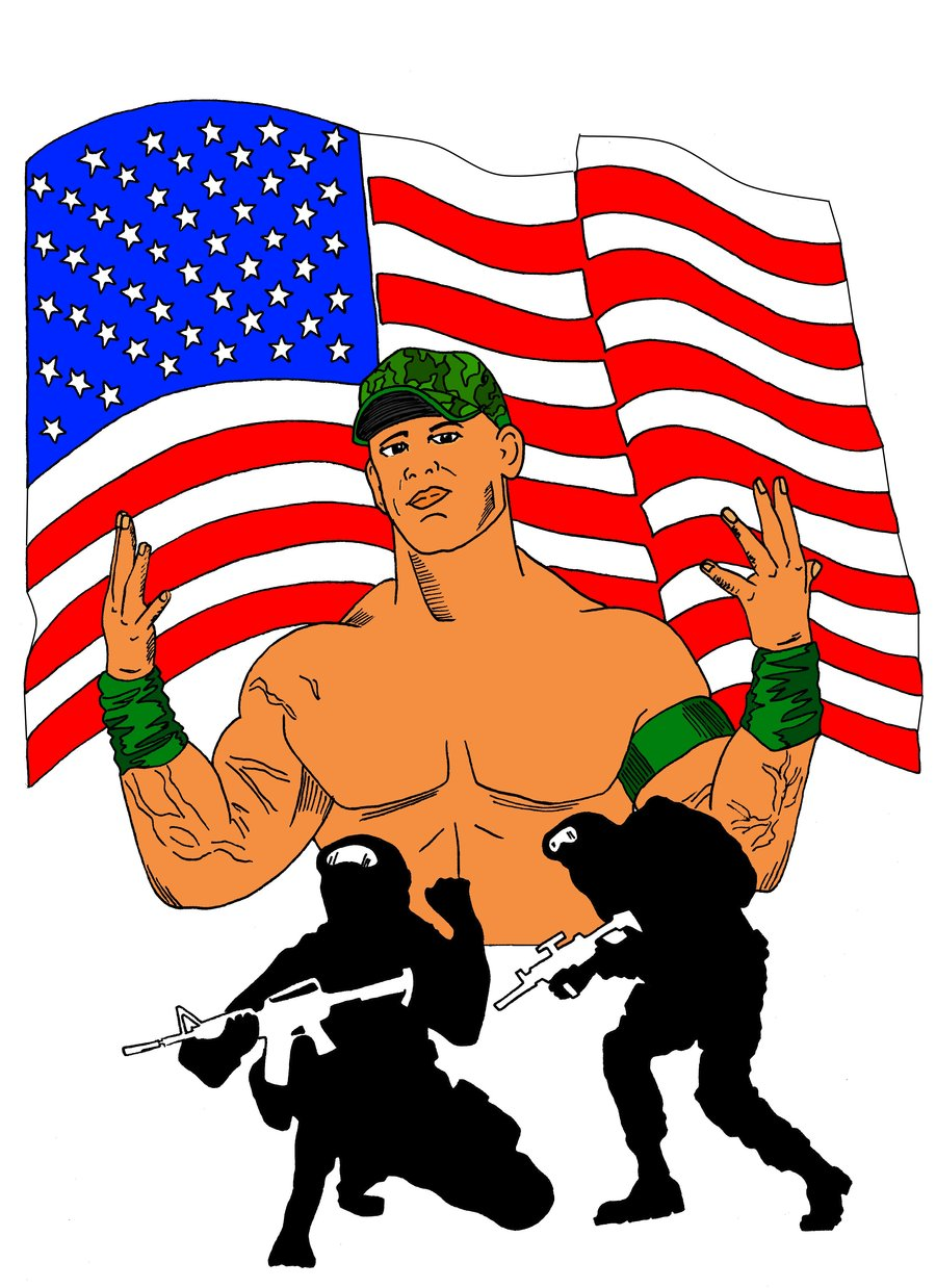 900x1238 Wwe And John Cena Support Our Troops By Jedimaster73