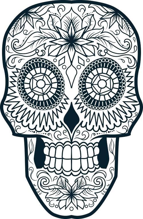 500x765 Sugar Skull Color Pages Incredible Inspiration Printable Skull