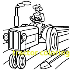 230x230 Tractor Coloring Pages
