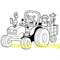 230x230 Tractor Coloring Pages With Tractor Color Pages Tractor Coloring
