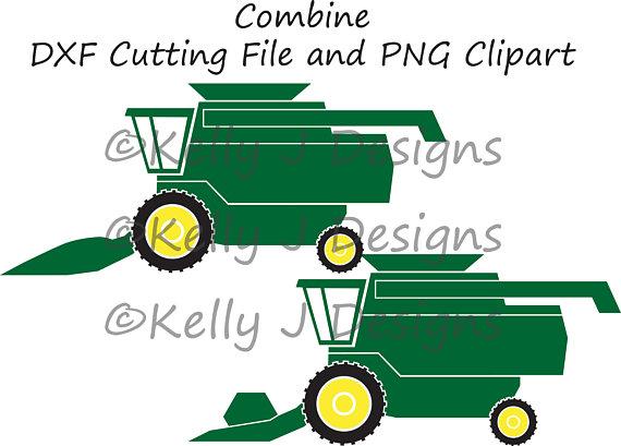 570x409 Combine Harvester Cut File, Combine Dxf, Harvester Dxf