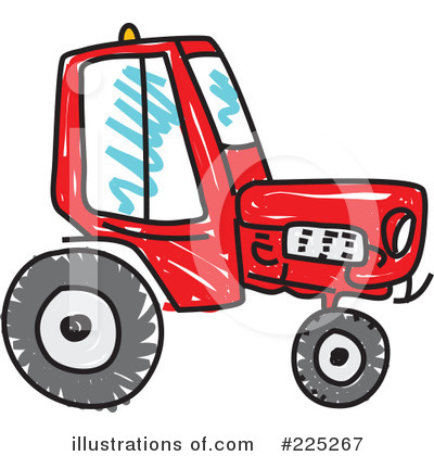 400x420 Back View Of A Tractor Clipart