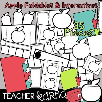 350x350 Apple Foldables, Interactives Amp Flip Book Templates September
