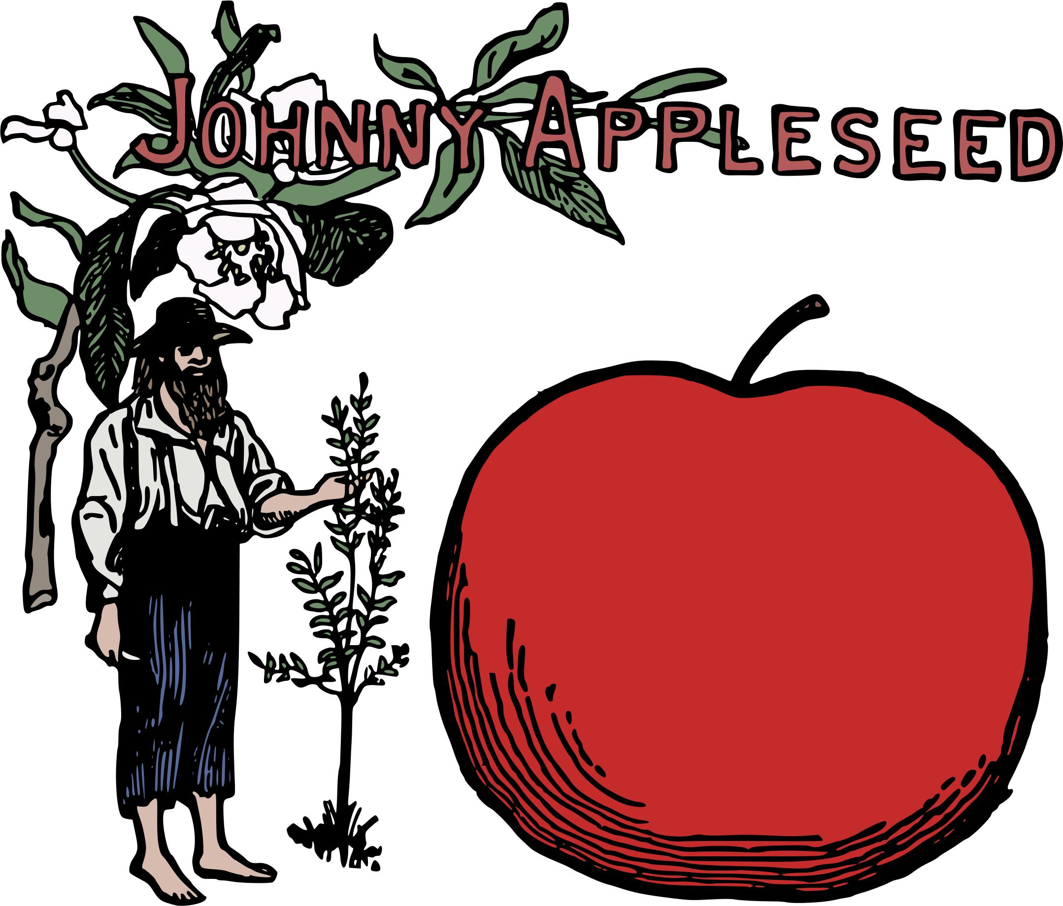 2158x1841 Johnny Appleseed Colour Icons Png
