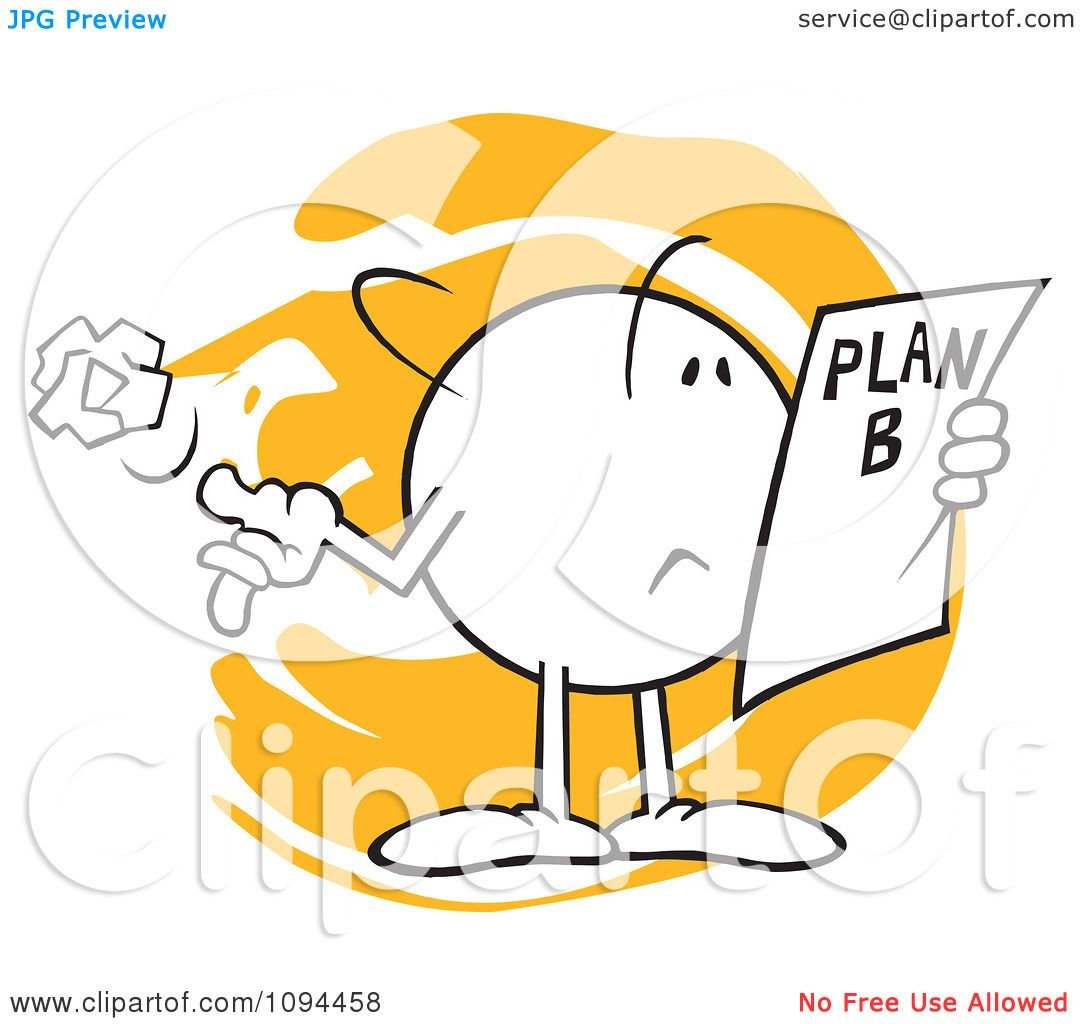 1080x1024 Clipart Moodie Character Reading A Plan B