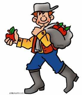 275x320 Johnny Appleseed Clipart Pack A Lunch Johnny