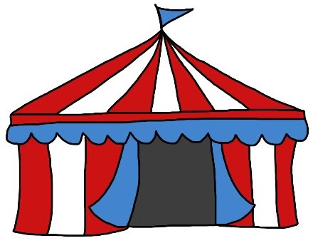 440x348 Circus Tent Clipart