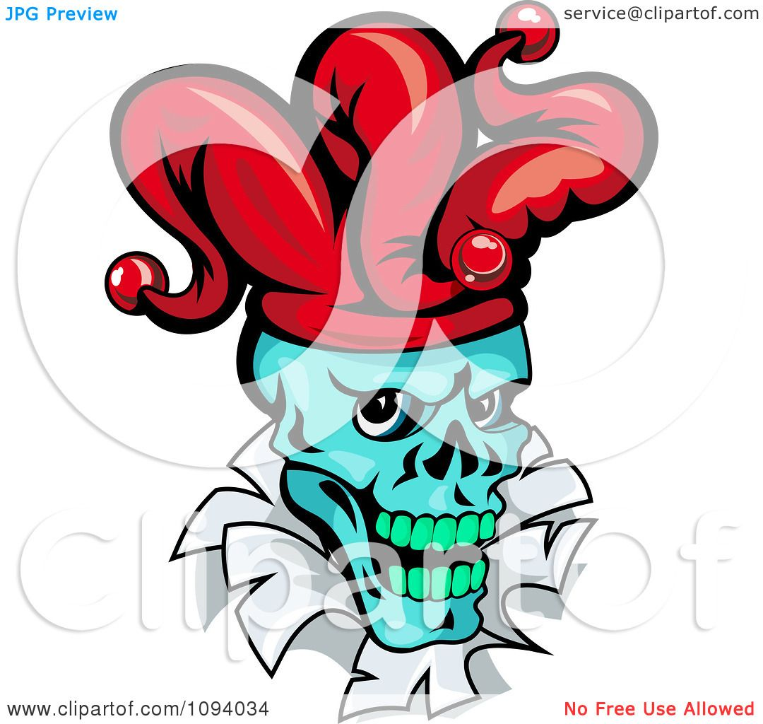 1080x1024 Clipart Blue Joker Head Breaking Through Paper