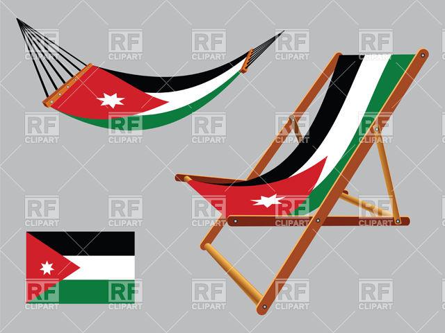 640x480 Jordan Flag Hammock And Deck Chair Royalty Free Vector Clip Art