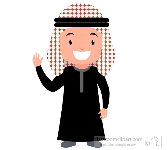 550x494 Middle East Clipart Jordan Man Wearing Kaffiyyeh Cultural