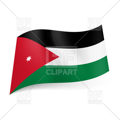 400x400 National Flag Of Jordan Royalty Free Vector Clip Art Image