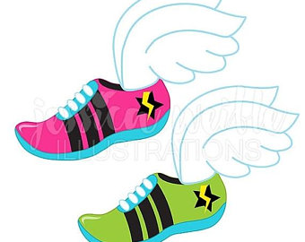340x270 Running Shoe Clipart Etsy