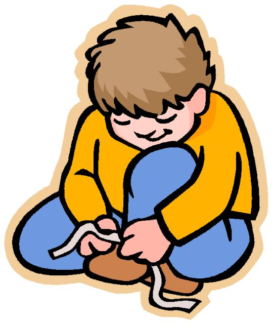 538x640 Tying Shoes Clipart