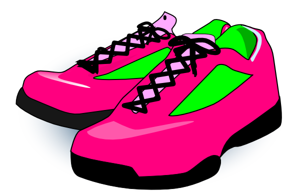 600x384 Cartoon Tennis Shoe Clipart