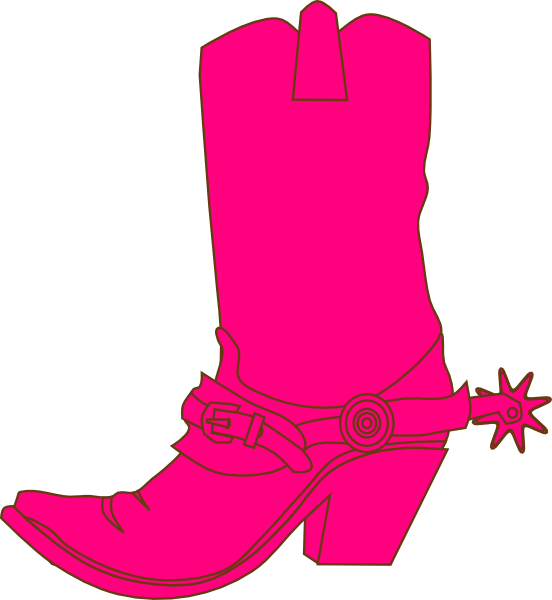 552x600 Cowgirl Hat And Boot Clip Art