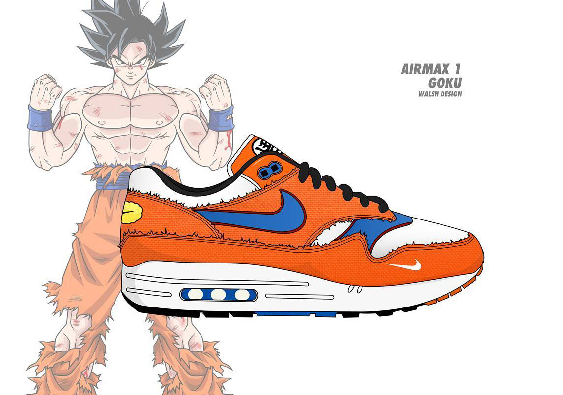 1140x799 Dragonball Z Nike Collaboration Ideas