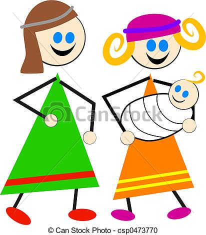 412x470 Mary And Joseph Stock Illustration Images. 1,931 Mary And Joseph