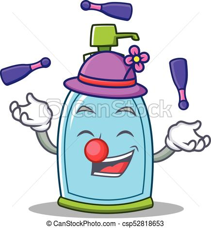 435x470 Juggling Liquid Soap Character Cartoon Vector Illustration Clipart
